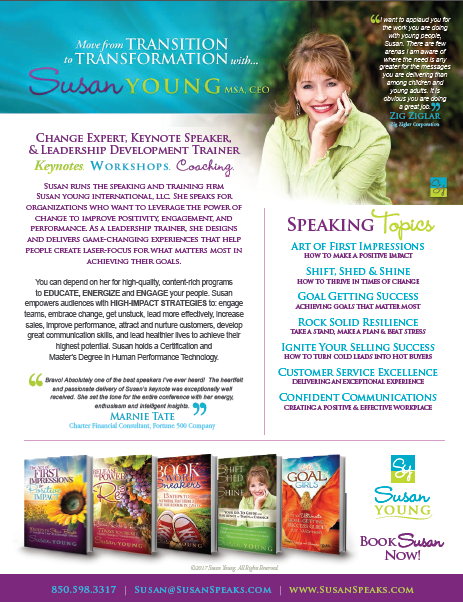Speaker Susan Young One Sheet