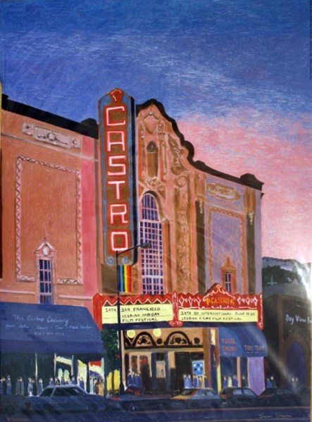 Castro Theater, print front, by Susan Sternau