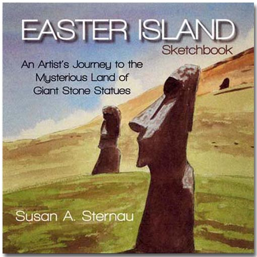 Easter Island Sketchbook by Susan Sternau, front cover