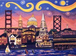 San Francisco Night giclee print by Susan Sternau
