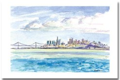 San Francisco View Card by Susan Sternau