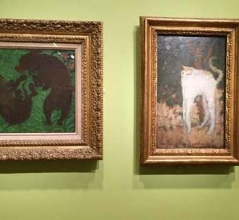 Bonnard, Two Poodles, White Cat