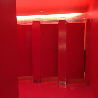 Red Bathroom Stalls, New SFMOMA