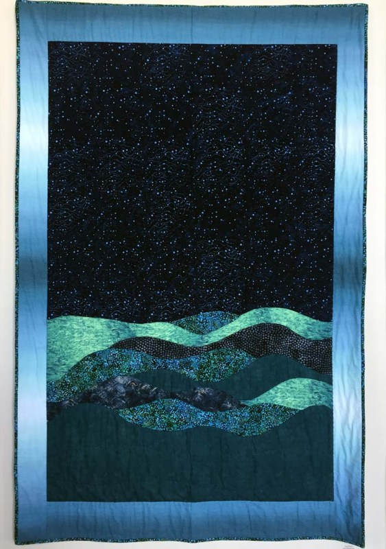 Deep Blue, Quilt by Judy Brooks