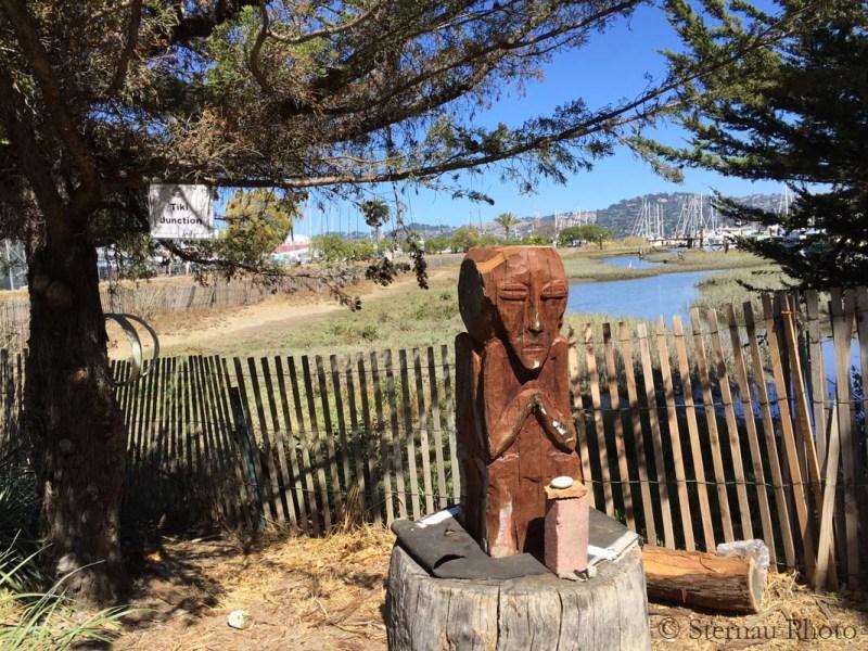 Cool carvings, Tiki Junction, Sausalito, Susan Sternau Photo