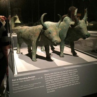 Standing Bovines, animals of ancient Chinese art