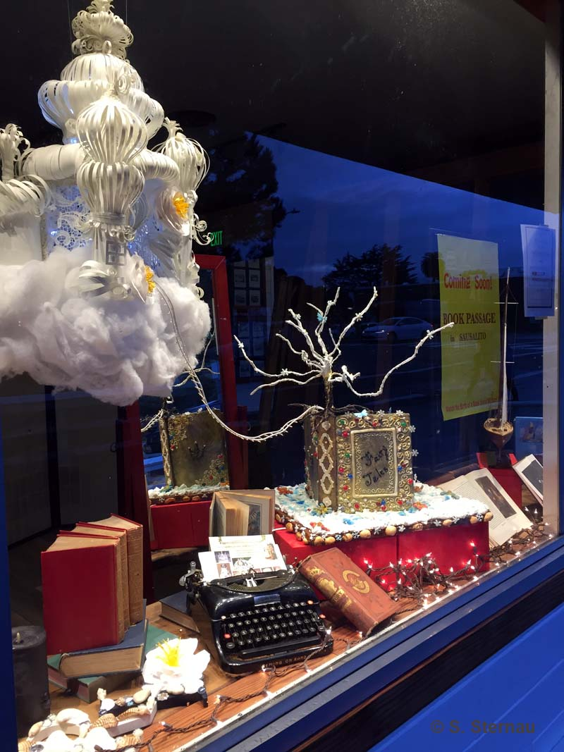 Holiday Window at Book Passage By the Bay