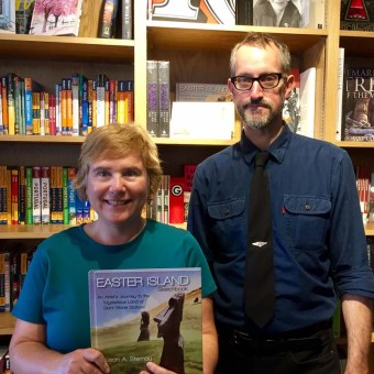 Susan Sternau with Jeff Battis at Book Passage by the bay