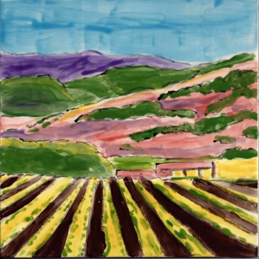 Wine Country Autumn large tile by Susan Sternau