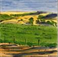 Wine Country Summer large tile, by Susan Sternau