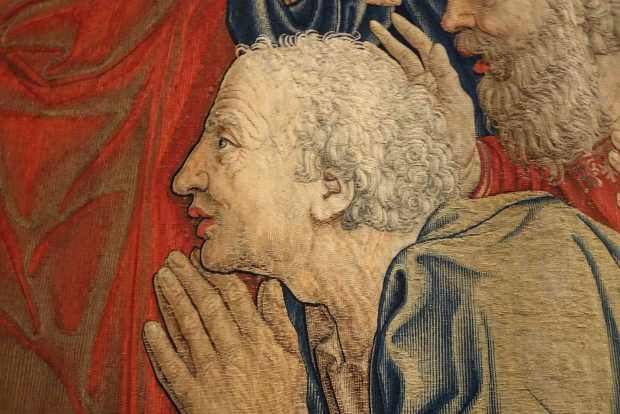 detail of medieval tapestry