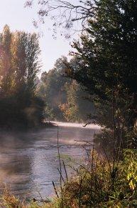 Morning fog on the Tumut river