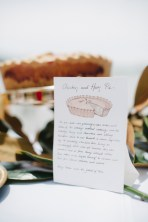 Chicken and ham pie label (photo by Pobke Photography)