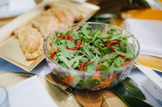 Salad and pumpkin pasties (photo by Pobke Photography)