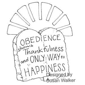 Obedience Happiness Bible Art Journaling Template Printable