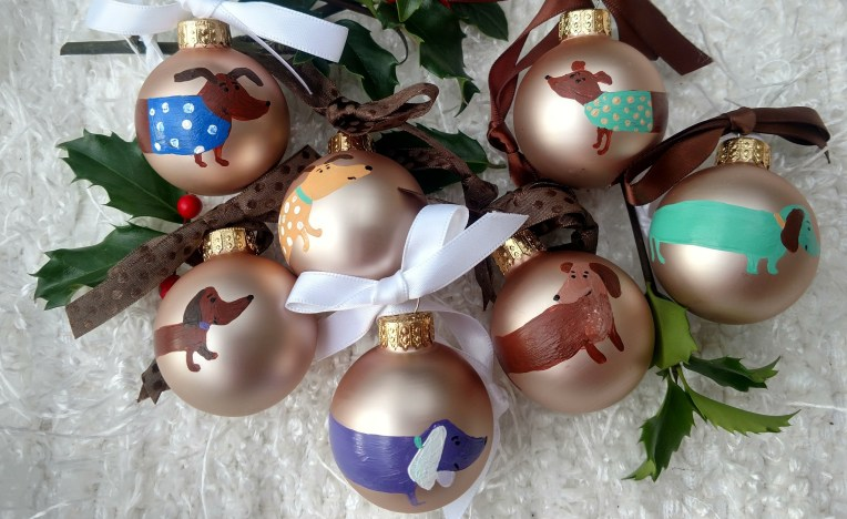 Hand Painted Glass Ornaments by Susan Walker Art