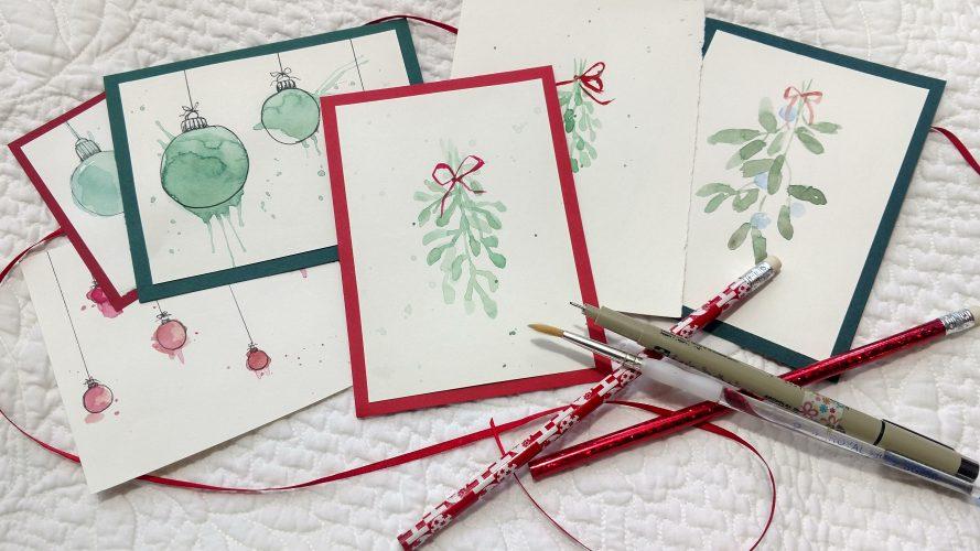 Christmas Watercolor Card- Make-n-Take