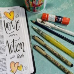 Draw in the Word bible Art Journaing with Susan Walker Art Love in Action