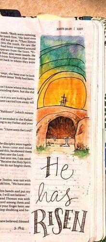 Empty Tomb traceable art from Susan Walker Art