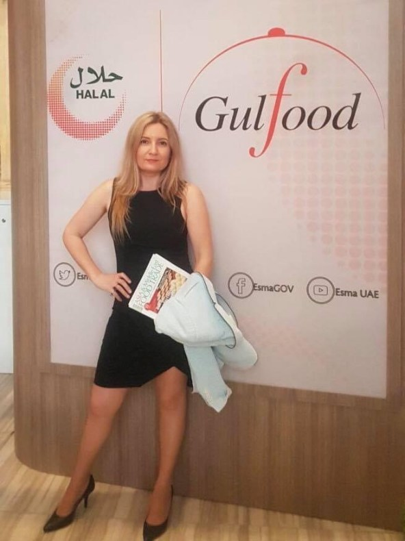 Susete Estrela at Gulfood , the largest anual food fair in the world. Dubai, February 2018