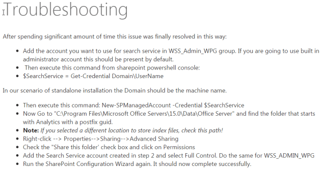 SharePoint 2013: The SDDL string contains an invalid sid or a sid that cannot be translated
