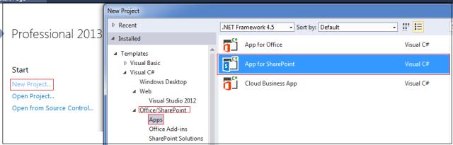 Create Visual Studio Project