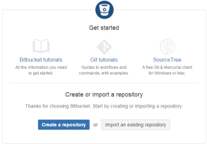 Create Bitbucket Repository Step 1