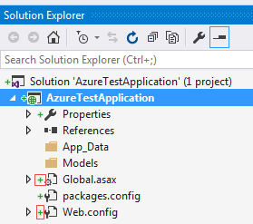 Visual Studio Project created in the local Git Repository