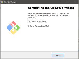 Git Install Final Step