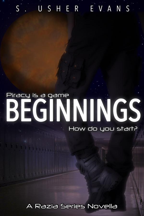 Beginnings, a prequel novella in the Razia series, about a space pirate bounty hunter