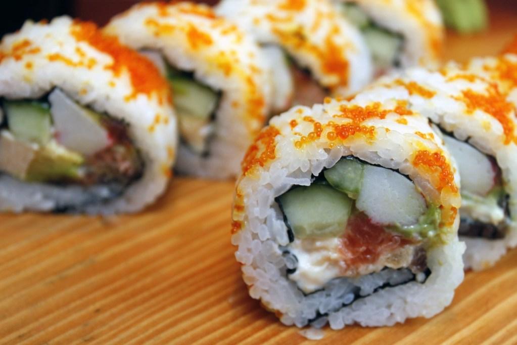 sushi, japanese, delicious