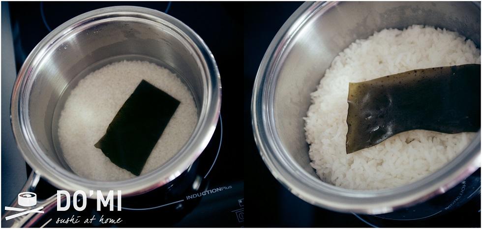 Jak ugotować ryż z kombu