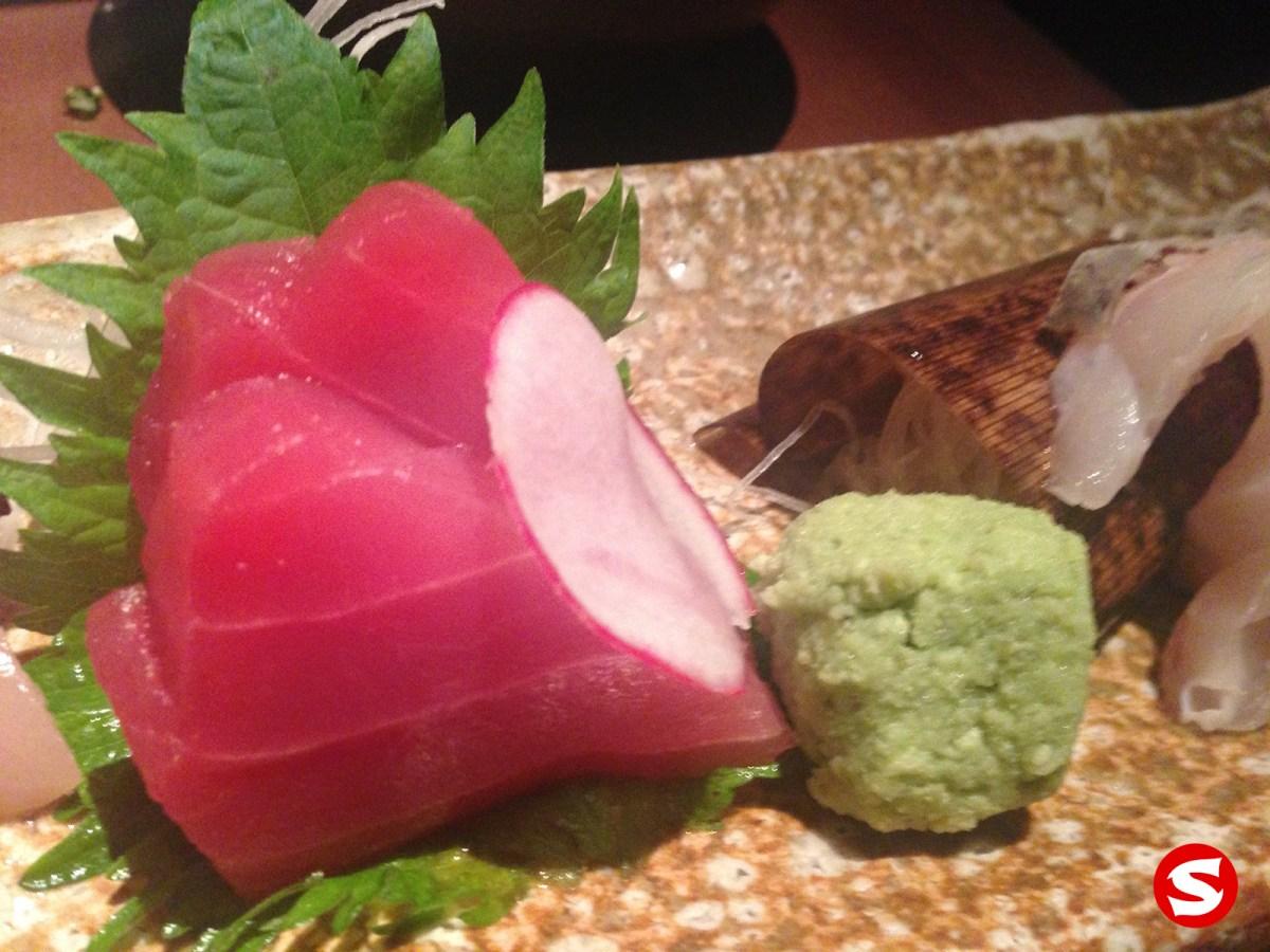 hon maguro (bluefin tuna) sashimi