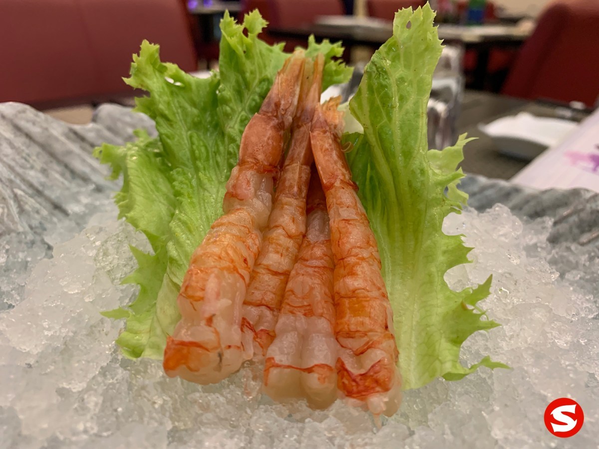 amaebi (sweet shrimp) sashimi