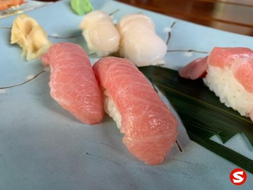 o toro (bluefin fatty tuna belly) nigiri