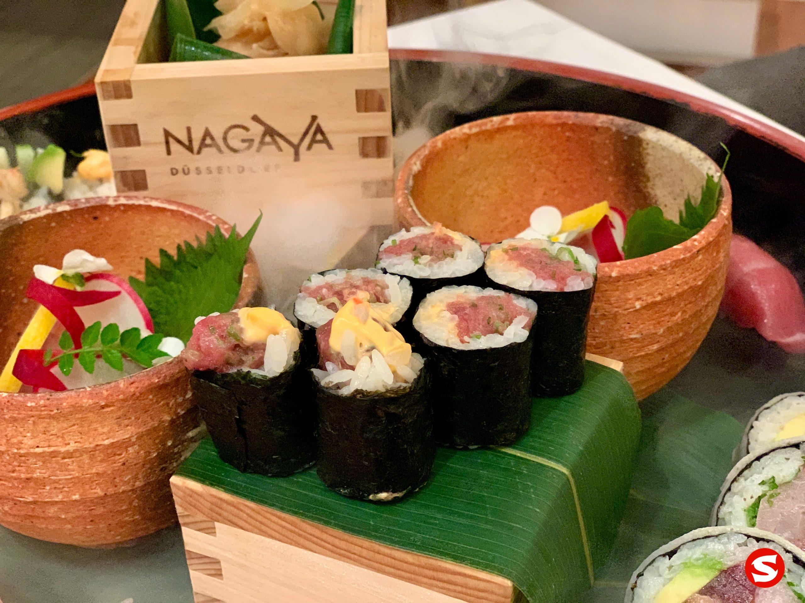 spicy tuna roll - maguro (lean tuna back) maki (roll) with chilli mayonnaise