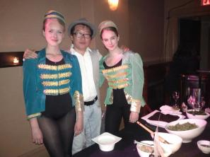 Me and two of the volunteer pillbox hat girls