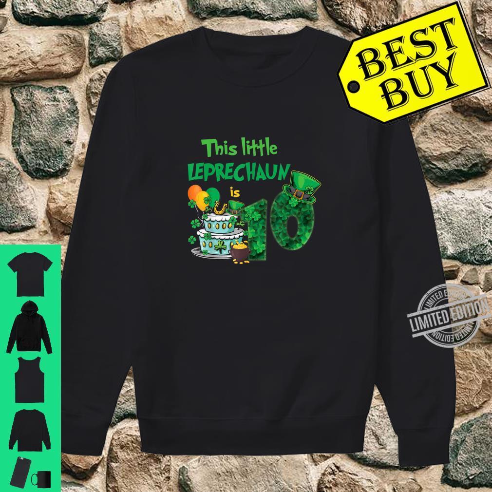 This Leprechaun Is 10 Years Old St Patricks Day Birthday Shirt