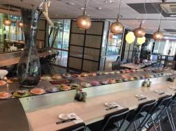 Sushi Time WTC te Amsterdam in het WTC gebouw G Zuidplein boven Cafe de Blauwe Engel