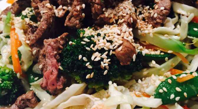 What's Cooking?…Warm Beef & Sesame Salad