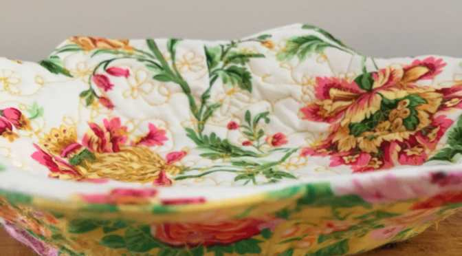 Quilted Flower Bowl & Tutorial