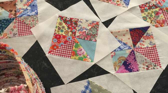 Scrappy Pinwheel in a Square