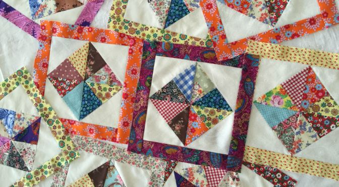 Scrappy Pinwheel in a Square – Part 2