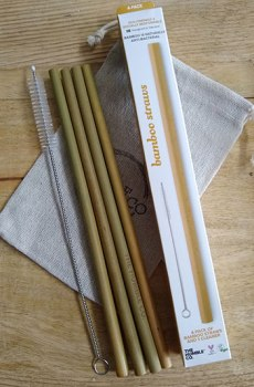Humble Brush – Bamboe rietjes set 4 incl. borstel