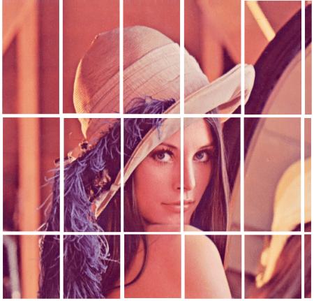 A borda branca separa as inúmeras imagens que foram geradas