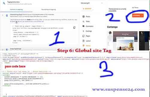 How do I add a global tag to Blogger?