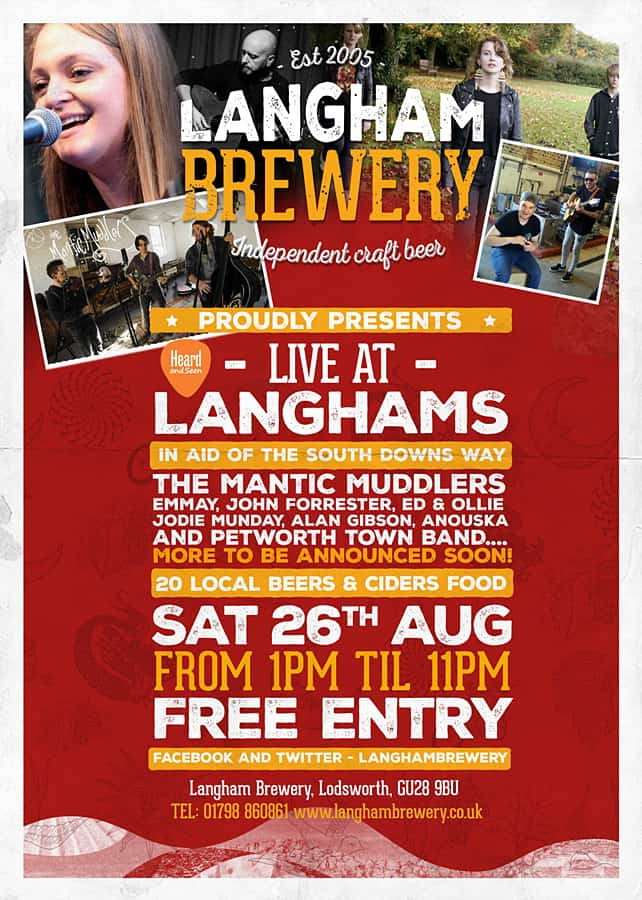 Live at Langhams, 26th August 2017 at Langham Brewery, Lodsworth, West Sussex