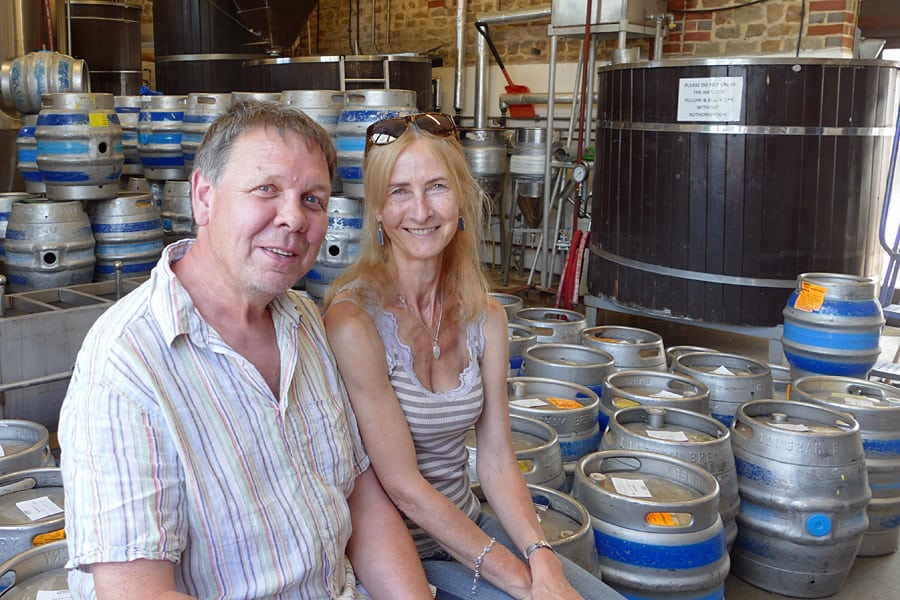 James and Lesley at Langham Brewery, Lodsworth, West Sussex,