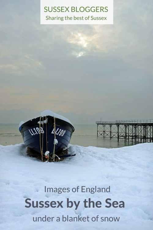 Images of Bognor Regis, West Sussex under a blanket of snow