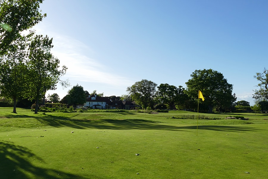 The golf course at the Park House Hotel, nr Midhurst, West Sussex